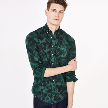 Camisa estampada button-down