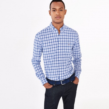 Camisa de cuadros button down