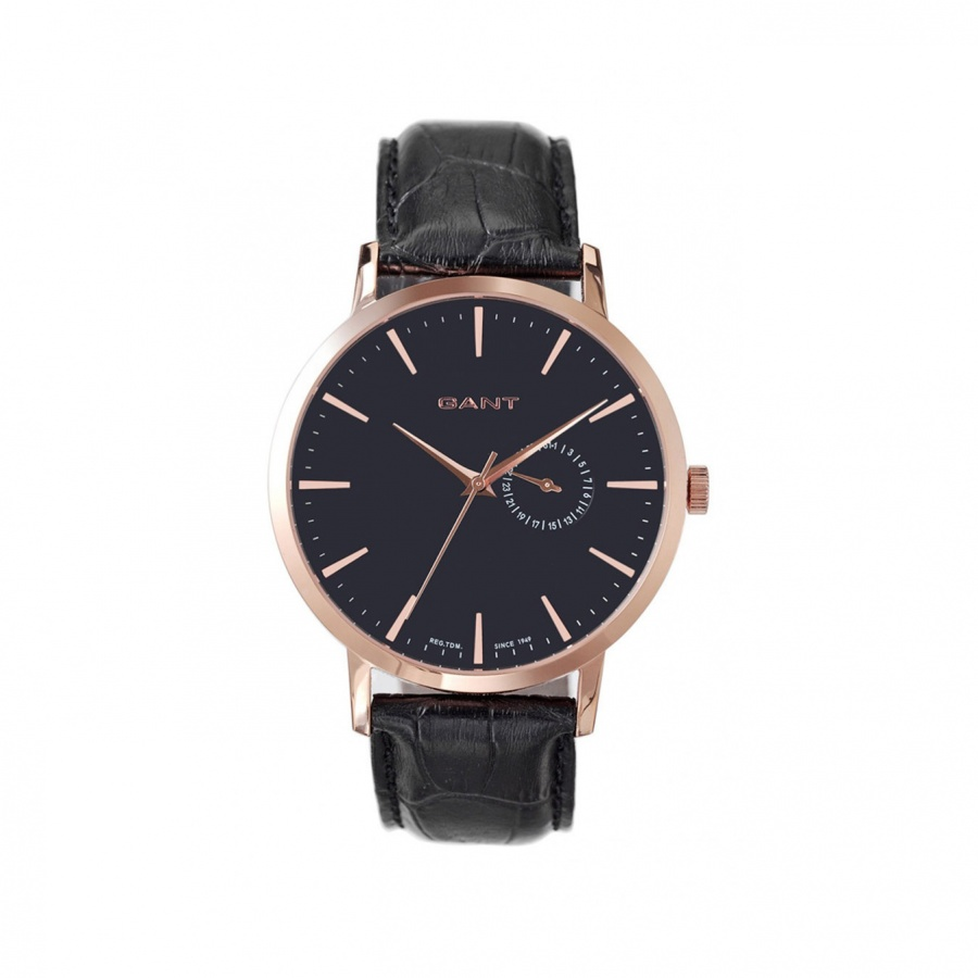 Reloj Park Hill rose gold black metal