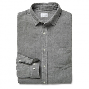 Camisa lisa cuello italiano