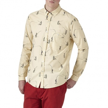 Camisa Fisherman estampada