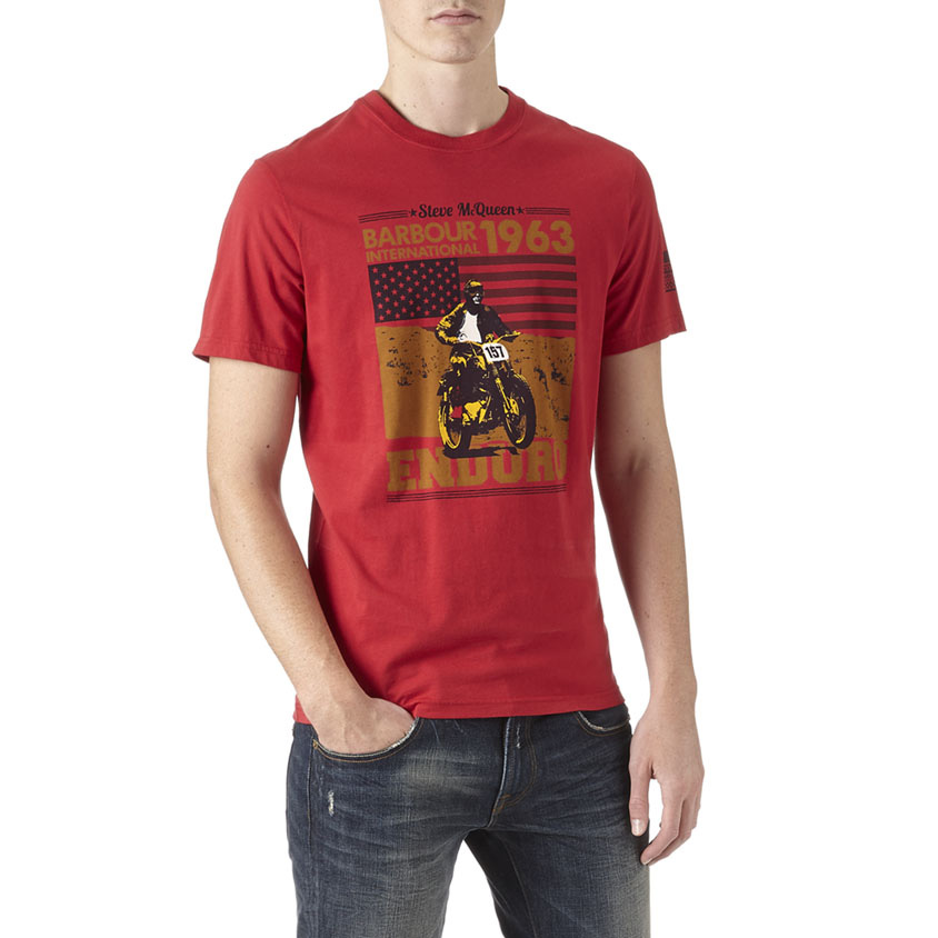 Camiseta Open Road estampada