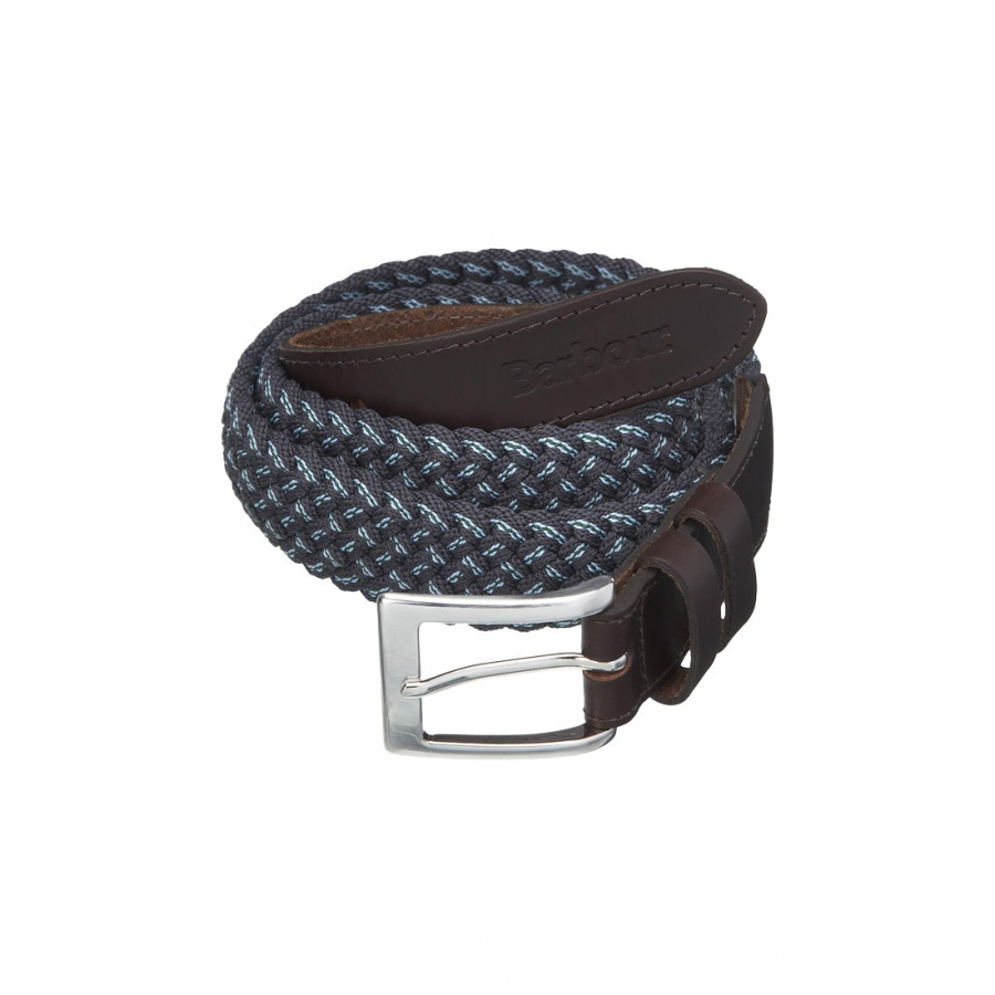 Leather Trimmed Stretch Belt