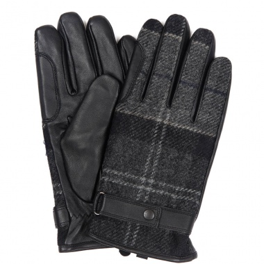 Guantes en Tartán Gris Newbrough