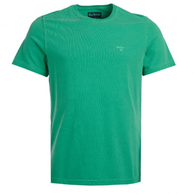 Camiseta Garment Dyed verde intenso