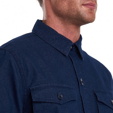 Sobre camisa Azul Thermo Forest Barbour imagen 2