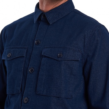 Sobre camisa Azul Thermo Forest Barbour imagen 3