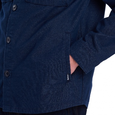 Sobre camisa Azul Thermo Forest Barbour imagen 4
