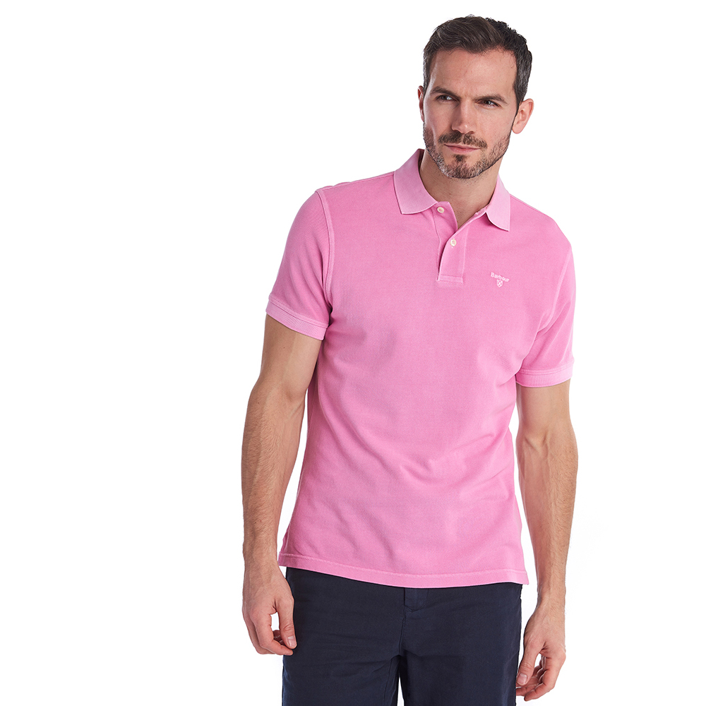 Polo Washed Sport rosa