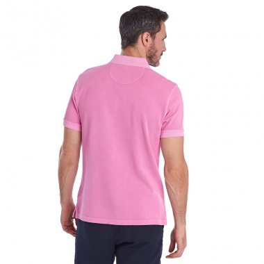 Polo Washed Sport rosa Barbour imagen 3
