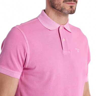 Polo Washed Sport rosa Barbour imagen 5