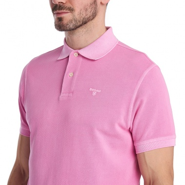 Polo Washed Sport rosa Barbour imagen 6