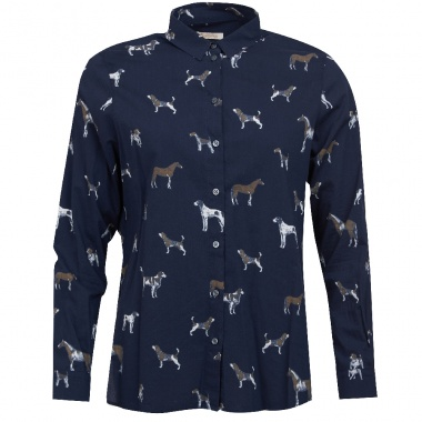 Camisa Azul Marino Estampada Stirling