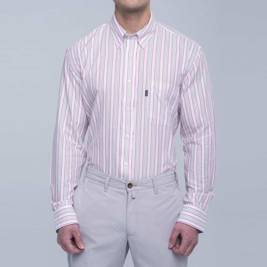 Camisa Sporting rayas button down