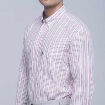 Camisa Sporting rayas button down Barbour imagen 5