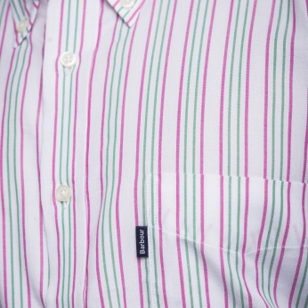 Camisa Sporting rayas button down Barbour imagen 7