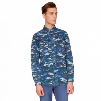 Camisa Wave estampada