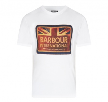 Antique Flag Tee Barbour imagen 4