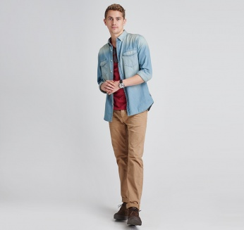 Camisa Steven vaquera Barbour International imagen 3