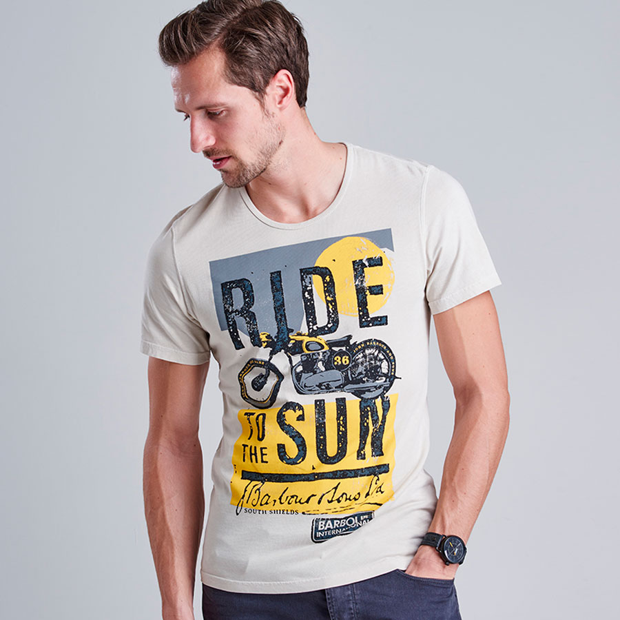 Camiseta Sun estampada