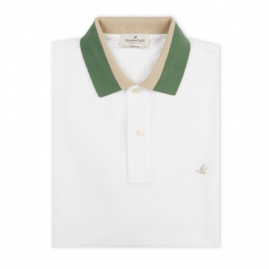 Polo cuello ribeteado