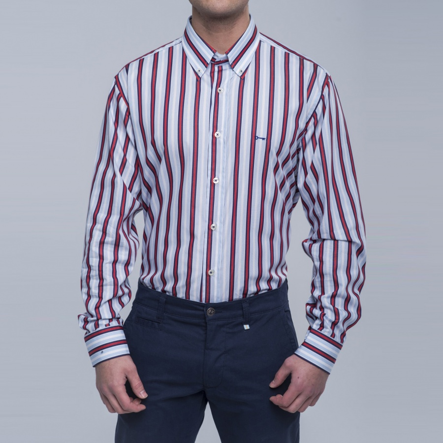 Camisa Kansas rayas button down
