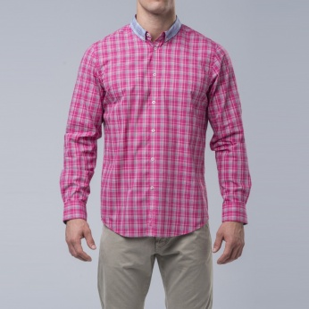 Camisa cuello combinado button down