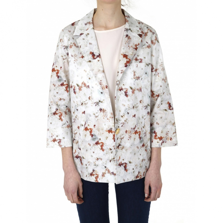Blazer Barbara estampada